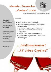 Plakat 15 Jahre Cantare